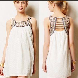Anthro Lilku Toda Vista Embroidered Swing Dress